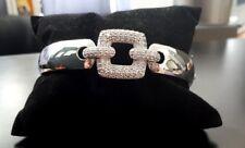 Silber 925 Armspange mit Zirkonia Kristall Armreif Armband Ketten Handkette