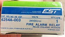 NEW IN BOX EDWARDS SYSTEM TECHNOLOGY FIRE ALARM RELAY 6254A-003 24VDC NOS
