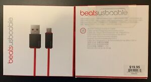 NEW Beats USB to Micro USB Charging Cable Cord 3FT MHE72G/A for headphones