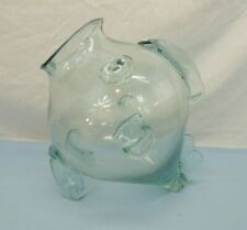 """9"""" ROUND GLASS FISH BOWL w/ FLOATING FISH ALSO CAN BE USED AS DECOR OR TERRARIUM"""