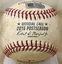 CLAYTON KERSHAW NLDS GM 1 PITCHED GAME-USED MLB BASEBALL from WIN DODGERS 2016
