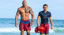 Dwayne johnson zac efron baywatch Poster Wallpaper 24 X 13 inch
