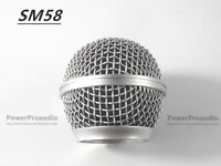 2PCS New Replacement Ball Head Mesh Microphone Grille for Shure SM58