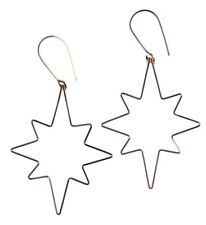 By Philippe 14KT Gold Filled Wire Small Star Flake Shepherds Hook Earrings NWT