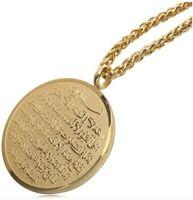 "Birthday Wedding Ayatul Kursi Eid Gifts /""AZHAR/"" Mens Arabic Name Necklace Tag"
