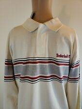 Timberland Boys Youth Shirt Beige Striped Size Large 16-18 NWT Long Sleeves