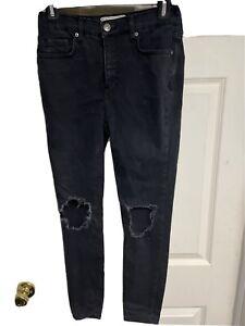 Free People Black Jeans Size 25