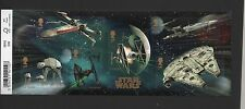 GB 2015 STAR WARS MINIATURE STAMP SHEET WITH BARCODE