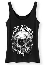 Dripping Skull Tank Top Womens Ladies Rock Punk Goth Metal Grunge Vest