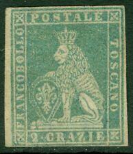 EDW1949SELL : ITALIAN STATES Tuscany 1857 Scott #13 Mint No Gum Rare Cat $4,800.