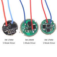 1Pc 3W LED driver 17mm/20mm DC3.7V  LED Flashlight Driver FT