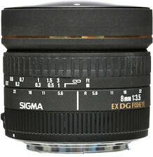 Sigma Fisheye 8mm f/3.5 EX DG Circular Fisheye Autofocus Lens - Canon Fit