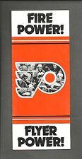 Philadelphia Flyers Ticket Brochure 1983 - 84 - Fire Power Flyer Power