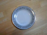 "Noritake Ivory China PRELUDE 7570 Bread Plate 6 1/2"" Black 1 ea  8 available"
