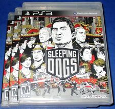 Lot of 3 Sleeping Dogs PlayStation 3 *Factory Sealed! *Free Shipping!
