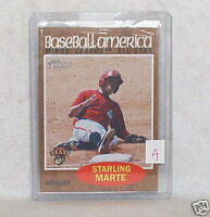 1 2011 TOPPS HERITAGE BASEBALL AMERICA CARD STARLING MARTE RC 220 PIRATES SP