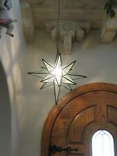 """Moravian Star -24""""  glue chip glass multiple point  18 point"""