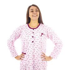 Camicia da notte donna  invernale in caldo cotone interlock felpata  7DICAM031
