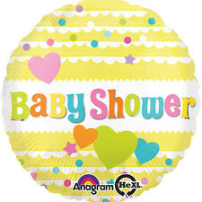 "BABY SHOWER PARTY SUPPLIES 17"" BABY SHOWER RUBBER DUCKIE ANAGRAM BALLOON"