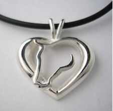 Horse Love Necklace with Horse Head and Heart