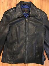 Ladies Black 100% Leather Coat Lighweight Studio Y Size Small