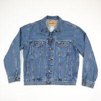 LEVIs Blue Jean Denim Trucker Jacket Mens MEDIUM