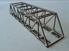 Model Railway Girder Bridge Wooden Kit OO Gauge Laser Cut 3mm MDF 40cms Long