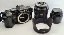 Minolta Maxxum 7000 AF 35mm SLR Film Camera with Minolta 50mm & 28-200mm Lenses