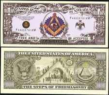 FREEMASON MILLION DOLLAR BILLS (2 for $5)