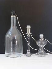 INGO MAURER EDITION M DESIGN : SUITE DE 3 LAMPES VERRE 1960 VINTAGE DESIGN 60s