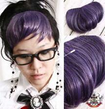 PUNK CYBER RAVER HAIR EXTENSION clip-on BANGS Lavender