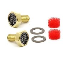 Brass Harley Breather Bolt Filter Kit for Big Twin Softail Dyna Touring CVO