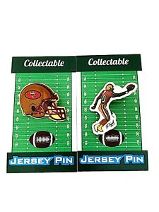 San Francisco 49ers Jerry Rice jersey lapel pin & helmet pin-Collectibles