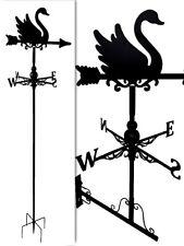 Floor standing and wall mounted Weathervanes Steel Swan Weathervane Gift