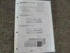 Original Service Manual Schaltplan  Blaupunkt Heilbronn SQM 39 Cambridge SQM 39