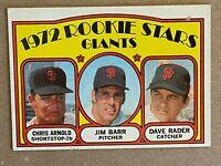 Topps 1972 #232 Rookie Stars Giants - Arnold, Barr & Rader