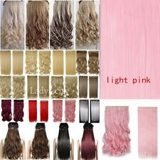 US Full Head 5clips Clip in on Hair Extensions Real thick as human hair 1pcs TH3