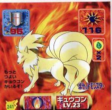 POKEMON STICKER Carte JAPANESE 50X50 1997 NORM@L N° 241 NINETALES FEUNARD