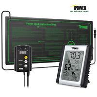 iPower Seedling Heat Mat & ETL Digital Thermostat Control & Humidity Monitor Set