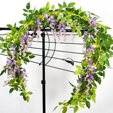 4pcs Artificial Flowers Garland Fake Wisteria Vine Silk Hanging Home GardenDecor
