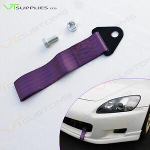 Purple Racing Tow Strap For Universal Track Car Motorsport Kit JDM Drift