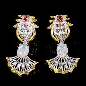 Handmade Jewelry SET Moonstone Earrings Silver 925 Sterling   /E46738