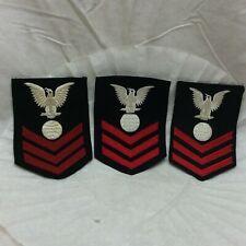 Vintage Navy Felt Electricians Mate Badge lot of 3 Patch Variants Variant