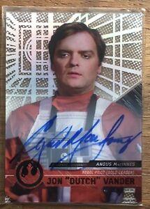 Star Wars High Tek Autograph Card [] Angus MacInnes as Jon Dutch Vander Auto