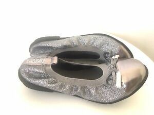 lelli kelly size32 ballerinas grey silver sparkling leather flats