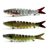 "1P 5.23"" Fishing Lures Bass Plastic Swimbaits Artificial Fish Lure Baits Hooks"