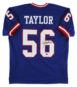 Lawrence Taylor Authentic Signed Blue Pro Style Jersey Autographed BAS Witnessed