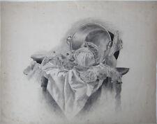 Küchenstilleben; große, sehr feine Zeichnung von 1870