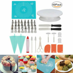 49Pcs Kitchen Baking Accessories Cake Decorating Supplies Bakery Tools Set Stand