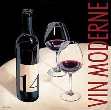 Marco Fabiano: Vin Moderne V Fertig-Bild 88x88 Wandbild Wein Küche Esszimmer